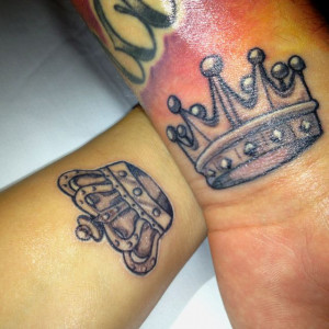 King and Queen crown tattoo.Couples Rings Tattoo, Couples Tattoo Ideas ...