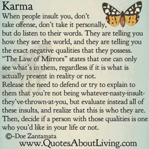 Karma. HOLY wow...this is great.
