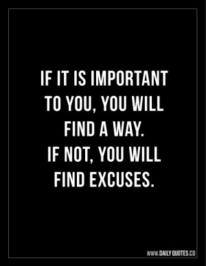 If its Important - Quote