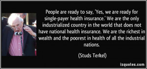 People are ready to say, 'Yes, we are ready for single-payer health ...