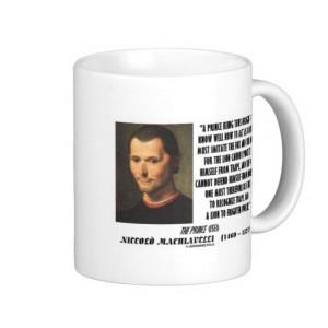 Machiavelli Prince Imitate Fox and the Lion Quote Mug
