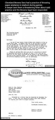 Cleveland Browns rant letter