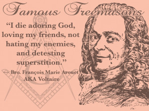 wanna die like Voltaire