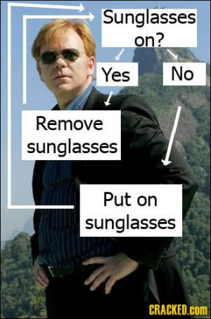 Horatio Caine Sunglasses Meme Always wearing sunglasses,