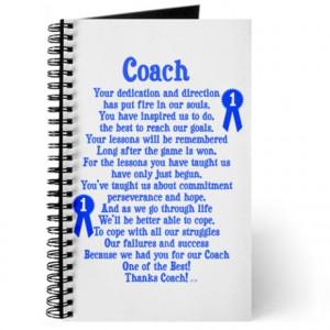 ... > Appreciation Journals & Spiral Notebooks > Coach Thank You Journal