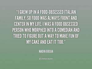 Italian Food Sayings About Family