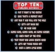 Funny Curling T Shirt Top 10 Curling Sayings Tee Hoodie Long Sleeve