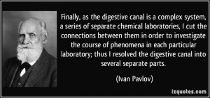 Finally, as the digestive canal is a complex system, a series of ...