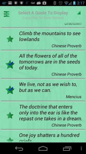 Chinese Sayings - screenshot