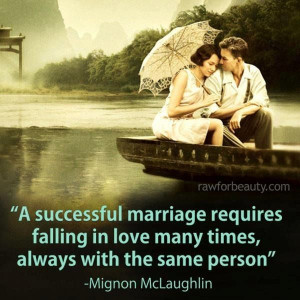 "... the same person."" ~ Mignon Mclaughlin #quote #quotes #marriage #love"