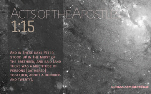 Bible Quote Acts of the Apostles 1 15 Inspirational Hubble Space