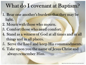 LDS Baptismal Covenant List
