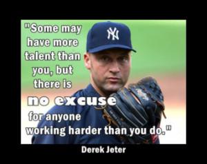 Baseball quote Poster Derek Jeter N Y Yankees Photo Wall Art Print 5x7 ...