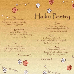 Haiku Poems Examples 5 7 5 Haiku poetry challenge