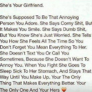 . If you find a women as you read in this description of a girlfriend ...
