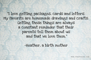 Why are updates to birth parents important to you?