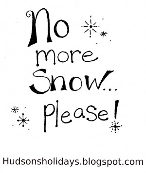 No more snow ...please! freebie friday