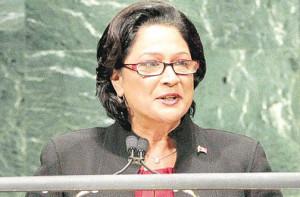PORT OF SPAIN, Trinidad - Prime Minister Kamla Persad-Bissessar ...