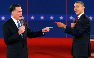 Making their points: Mitt Romney and Barack Obama are neck and neck in ...