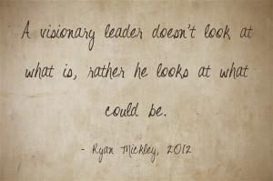 visionary leader holds three traits: