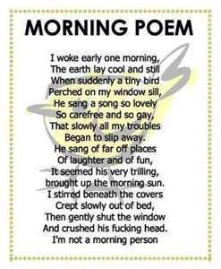 Funny Morning Poem