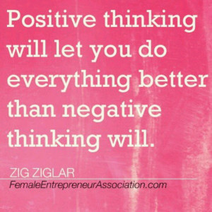 Zig Ziglar on Positive Thinking...