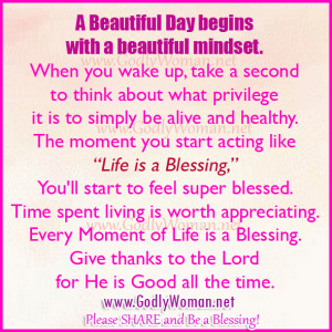 A Beautiful Day Begins With A Beautiful Mindset Quote Beautiful Godly...