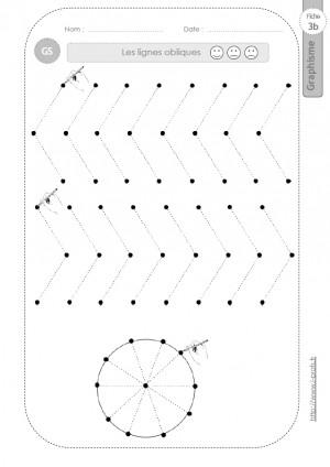 Graphisme et Ecriture Lignes obliques en GS