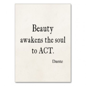 Vintage Dante Beauty Awakens the Soul Quote Business Card