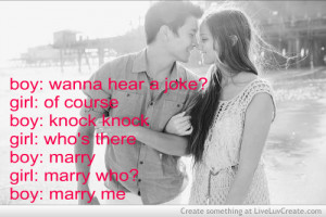 couples, cute, funny, love, marry me, pretty, quote, quotes