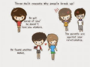 Three main reasons why people break up he got bored of you he doesn't ...
