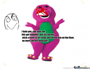 barney the dinosaur meme