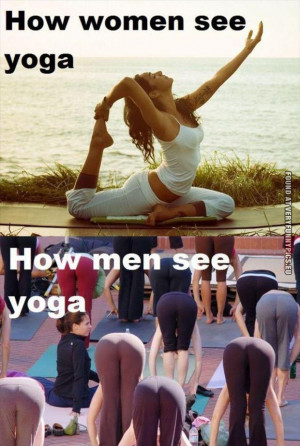 Yoga expectations – Women VS Men