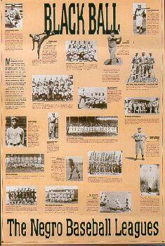 negro league baseball | Black Ball (Negro League Baseball Poster ...