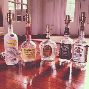 ... Alcohol Bottle Lamps, Whiskey Bottle Lamp, Alcohol Decor, Bottle Lamps