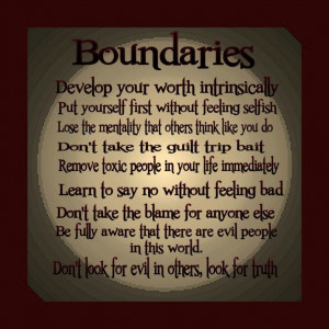 quotes about boundaries | Via Veronica V