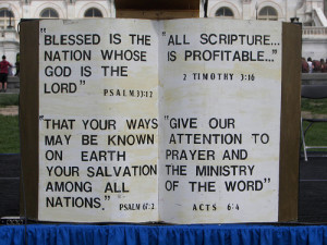 Biblical quotes displayed in Washington, DC for the 2006 National Day ...