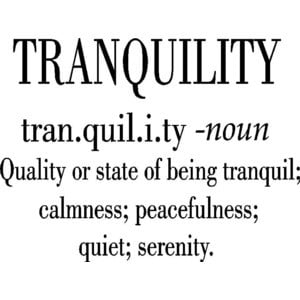 Quotes About Tranquility