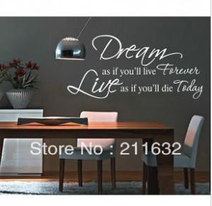 Free-Shipping-Dream-Inspirational-Quotes-Home-Room-Decor-Decorative ...