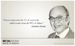 BMA Words of Wisdom by Soichiro Honda