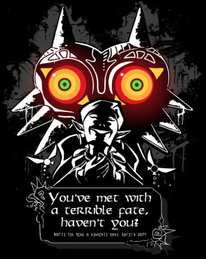 ... slowly becoming one of the famous quotes of the Zelda series! #Majora