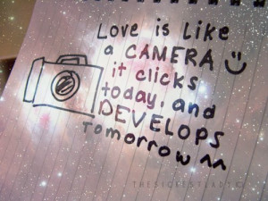 camera, cute, love, photography, quote