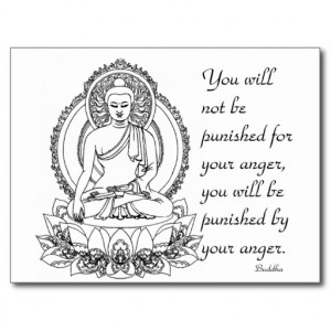 Sidhartha Gautama Buddha ~ Anger Quote Postcard