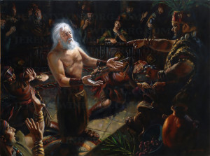 Original Oil Painting of Abinadi testifying before King Noah. LDS ...