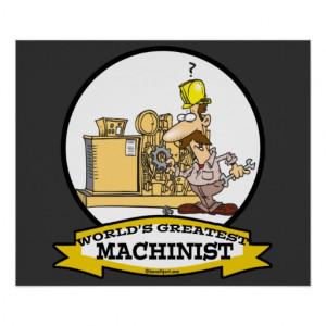 Worlds Greatest Machinist Men Cartoon Print