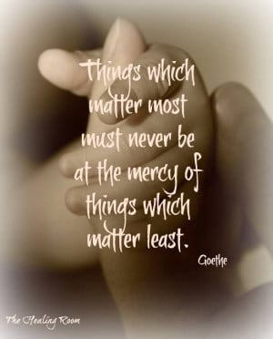 Quote - Things That Matter Most