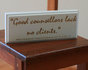 Shakespeare Quote on Lawyers Engrav ed in Wood ...