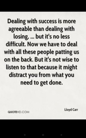 Lloyd Carr - Quote