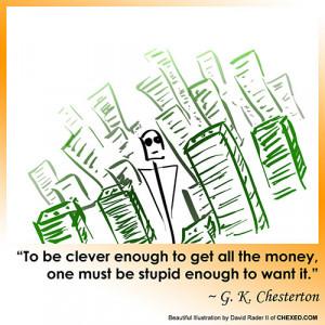 Clever Money Chesterton Comic