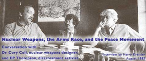 Thompson disarmament activist August 1983 by Harry Kreisler edited